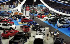 large auto show space