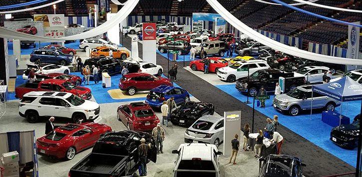 large auto show space