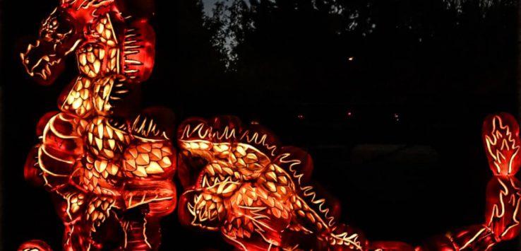 jack o lantern dragon display