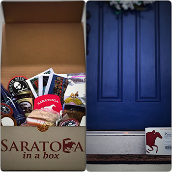 saratoga in a box items and box on a doorstep