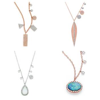 four different pieces of jewelry
