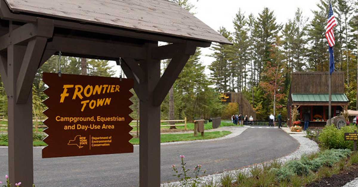 frontier town campground sign