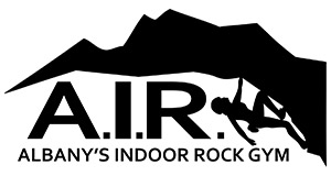 albany's indoor rockgym logo