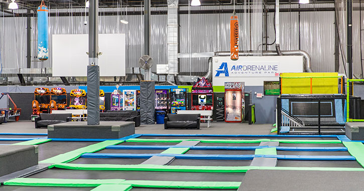 indoor trampoline park and games