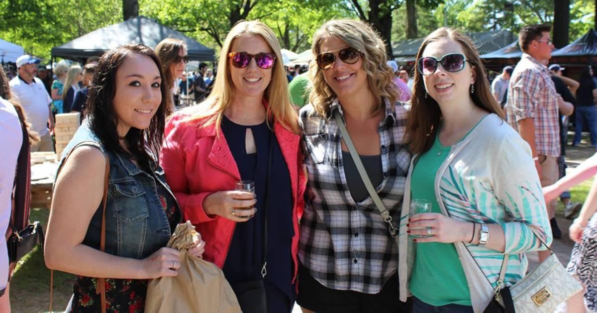women at beer tasting