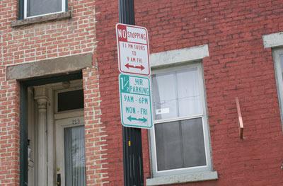Albany NY Parking signs