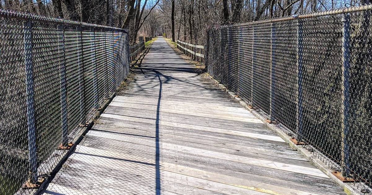 bike path with fence