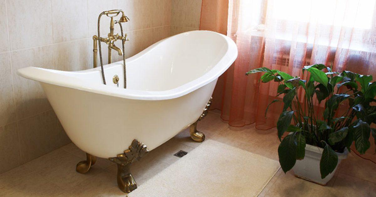 an ornate white bathtub