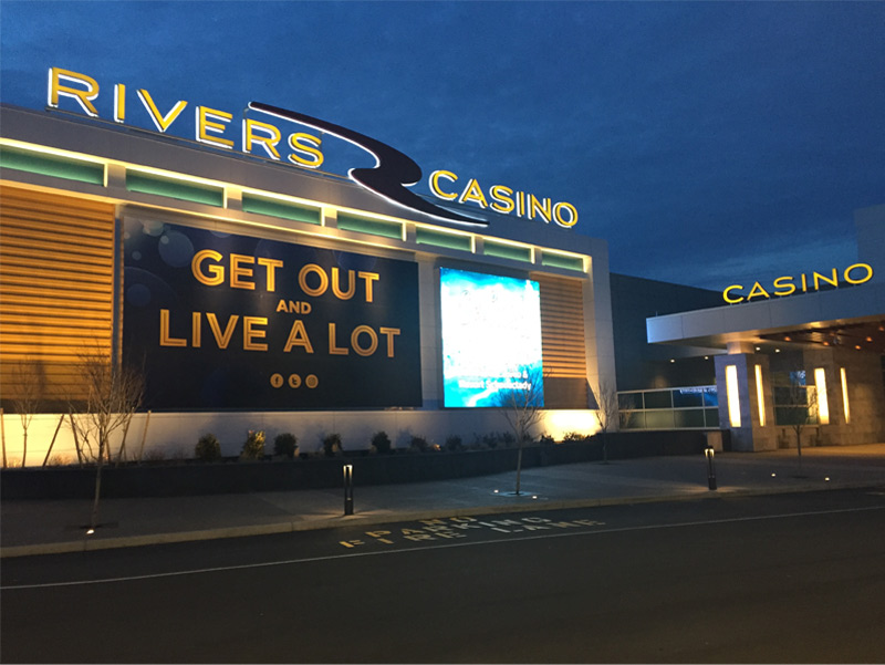 rivers casino exterior