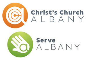 Christ's Church Albany and Serve Albany logos