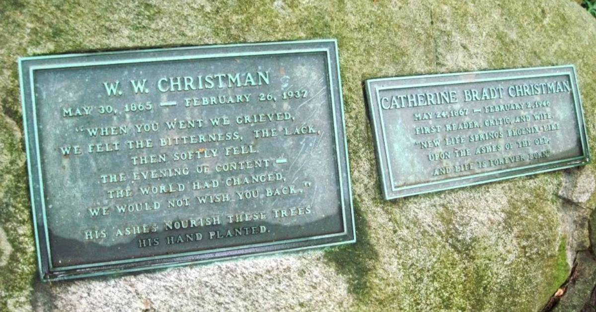 Christman Sanctuary rock memorial