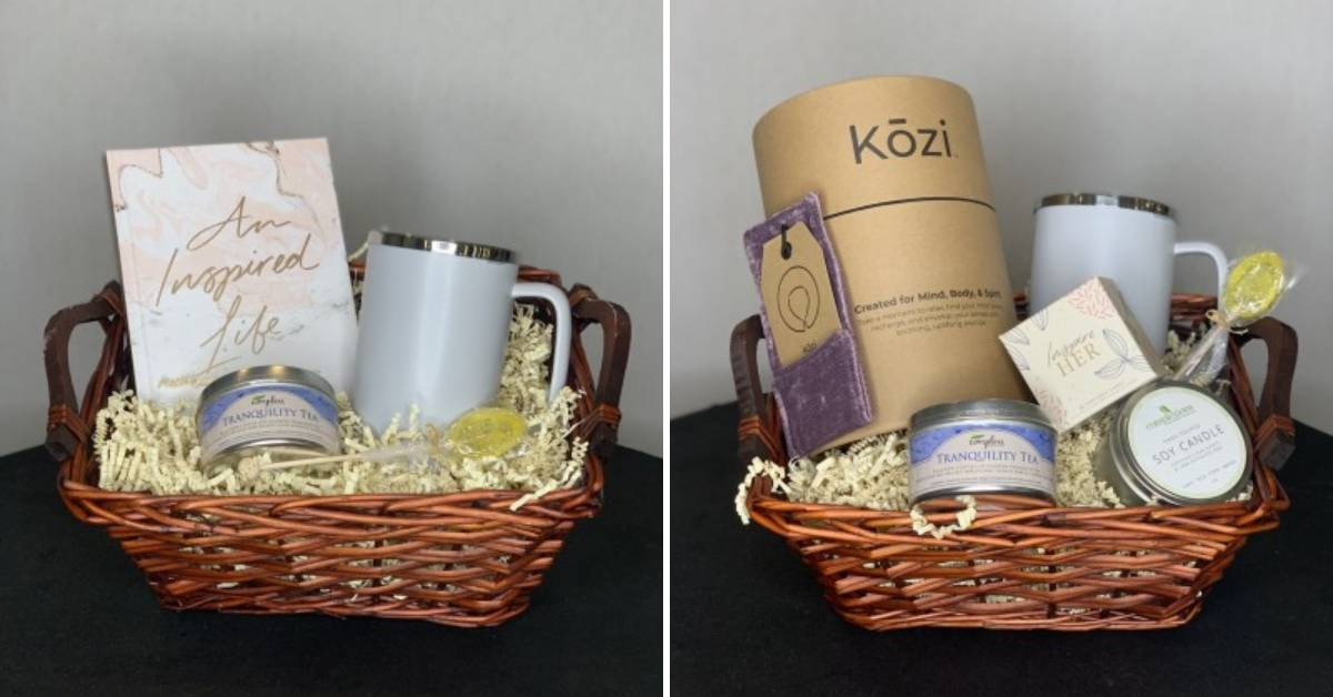 two gift baskets