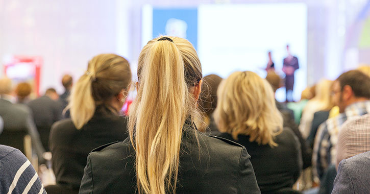 people at a business conference