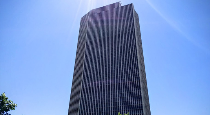 the Corning Tower, view from the ground looking up