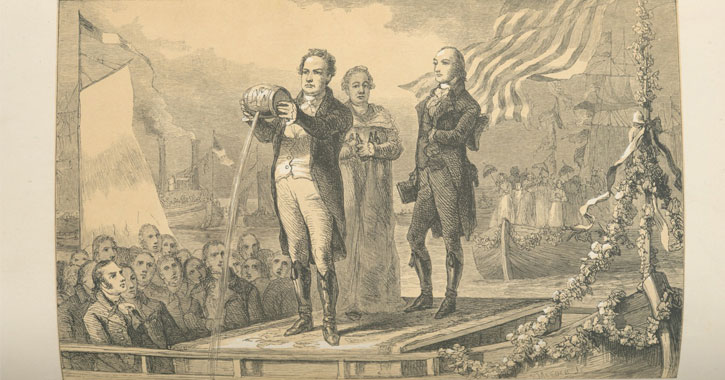 dewitt clinton pouring water