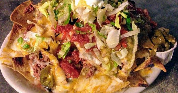 nachos on a plate