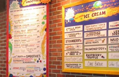 Emack & Bolios Ice Cream Menu