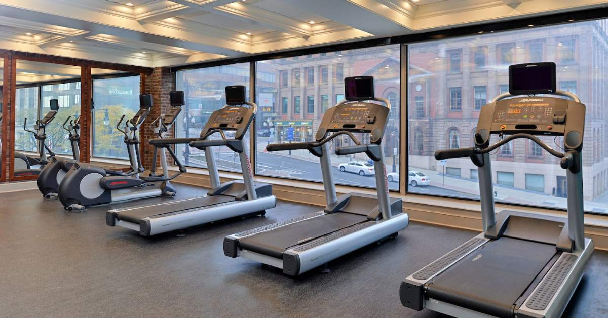 treadmills in fairfield inn and suites overlooking downtown albany