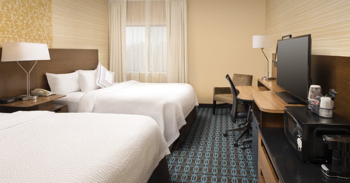 guest room at fairfield inn and suites