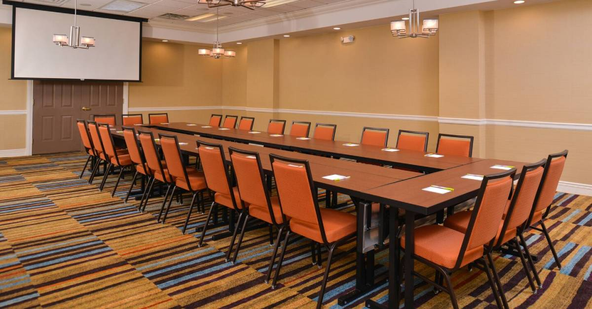 meeting room in a hotel