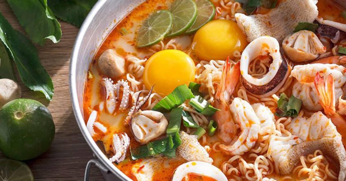 a thai seafood soup