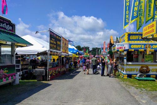 food vendors at a county fair