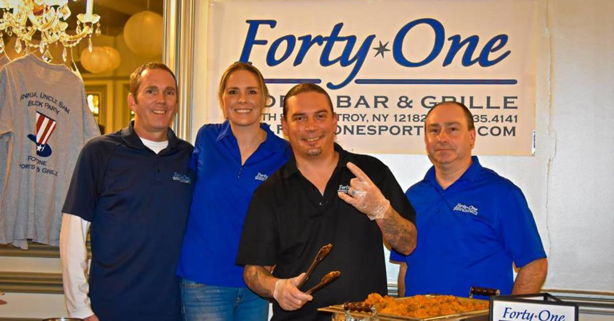 forty one sports bar and grille's booth at wing wars