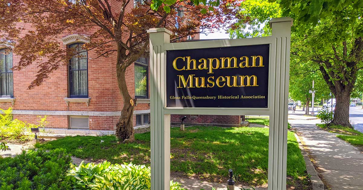 chapman museum sign outside a building