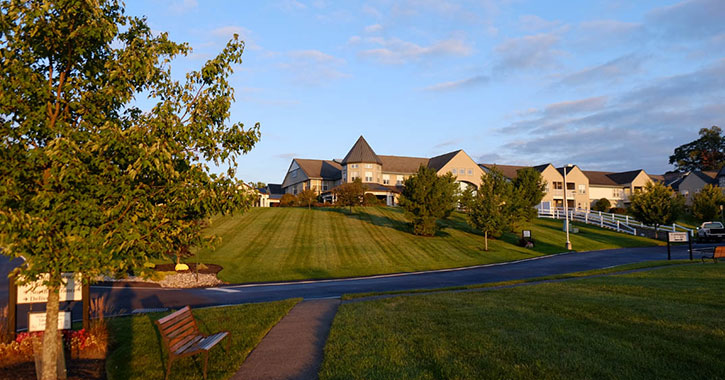large apartment community on lawn