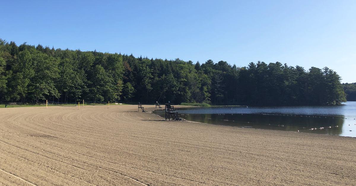 beach on a lake
