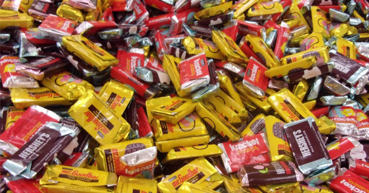tons of small chocolate candy bars
