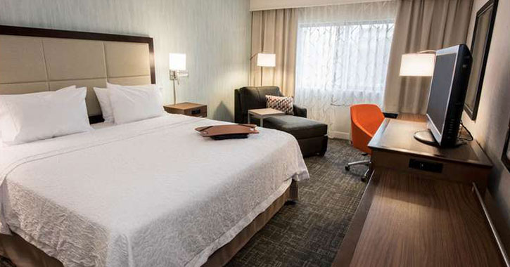 large bed in a hotel room