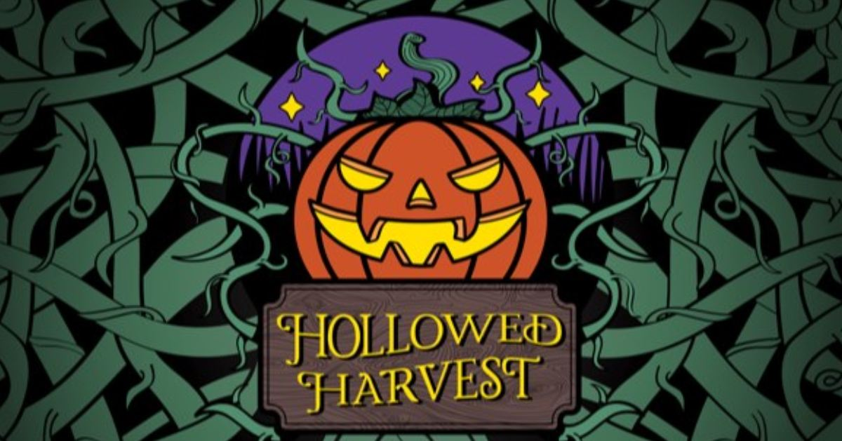 logo for the hollowed harvest
