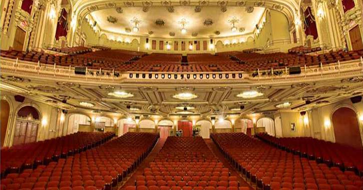 View from stage of the Palace Theater