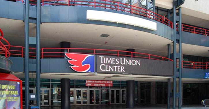 Exterior of Times Union Center