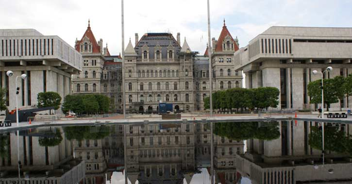 Exterior of Capitol Building in Albany