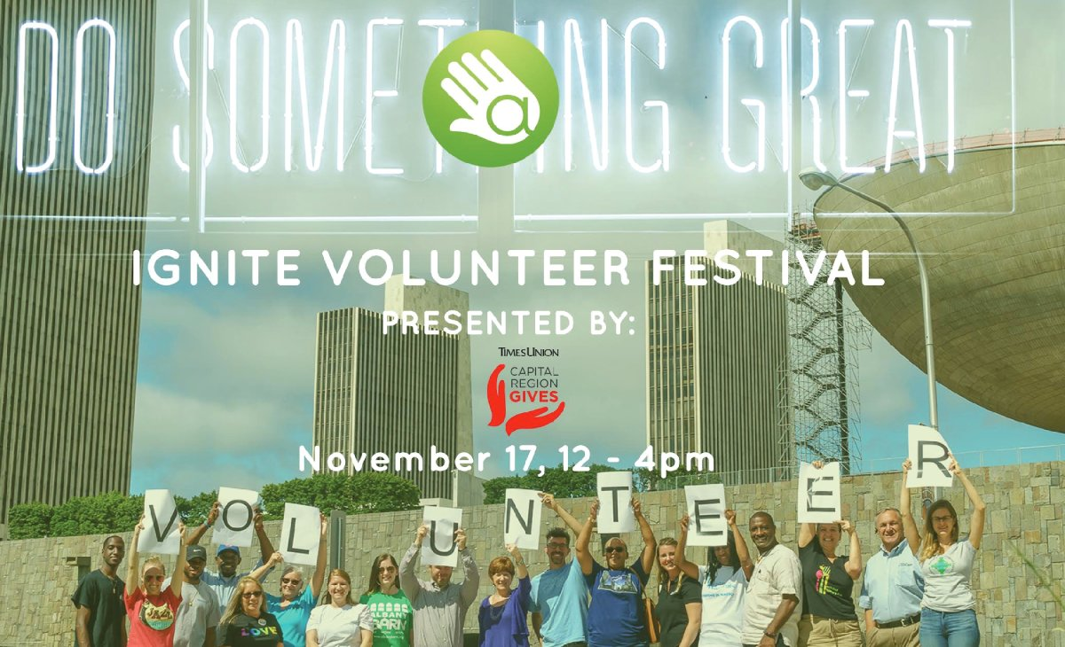 promo image for ignite volunteer festival
