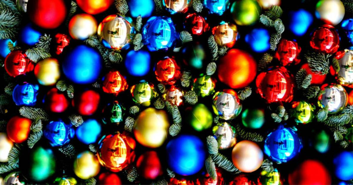 round colorful ornaments