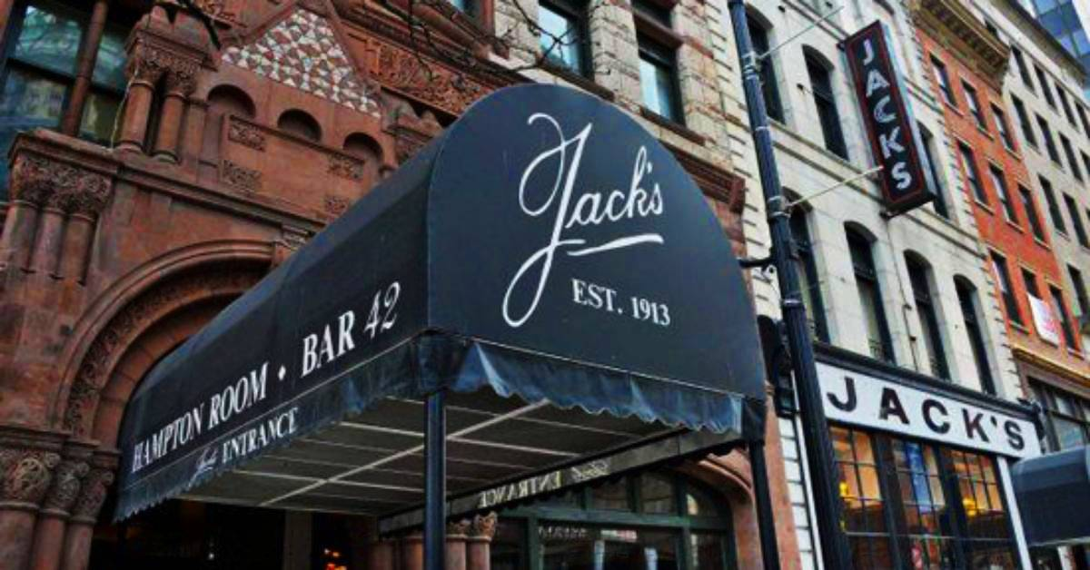 the entrance to jack's oyster house