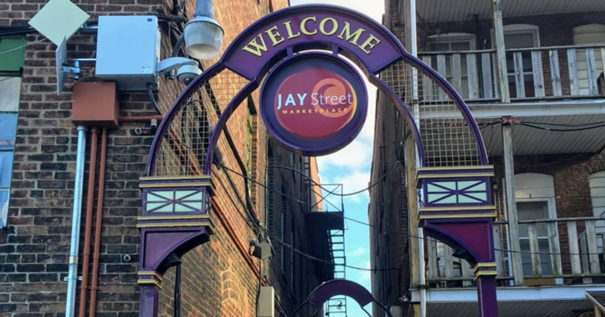 jay street market sign