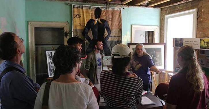 Group visiting the Underground Railroad History Project of the Capital Region