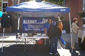 Albany.com Booth At LarkFEST