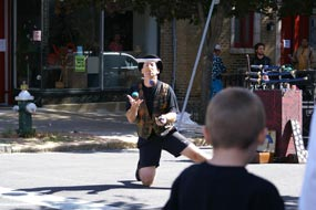 Juggler Mike McCrea At LarkFEST