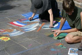 Sidewalk Chalk Art At LarkFEST