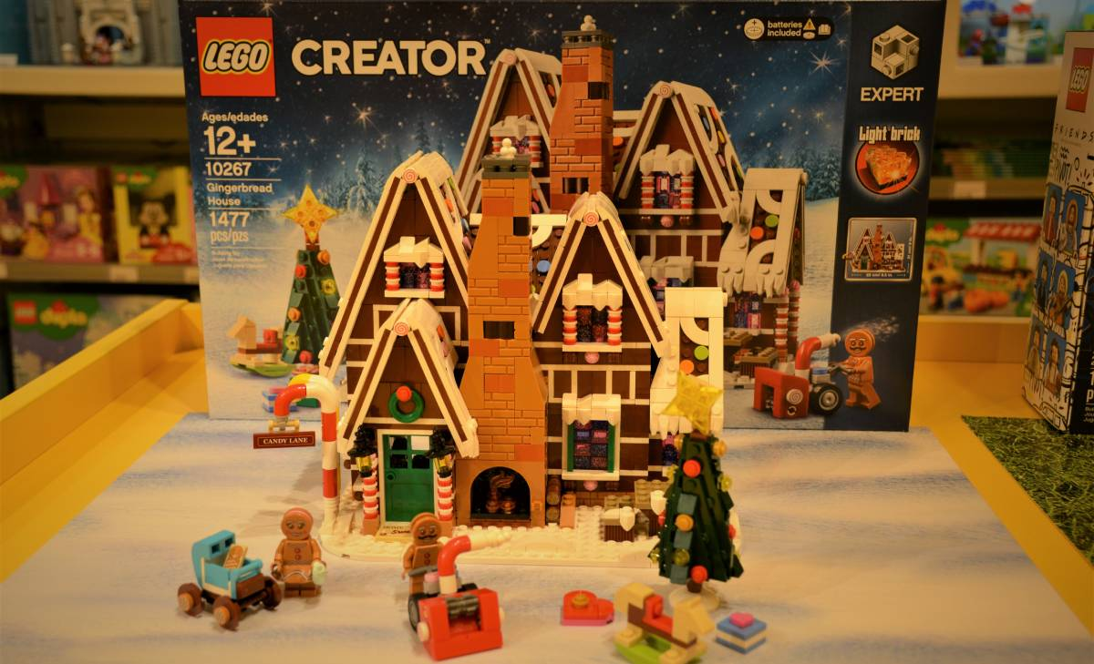 lego gingerbread house set
