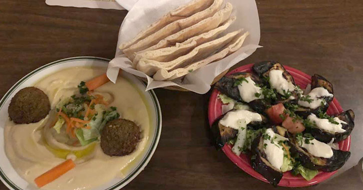 pitas and falafel