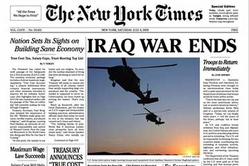 The New York Times: Iraq War Ends - Spoof Paper