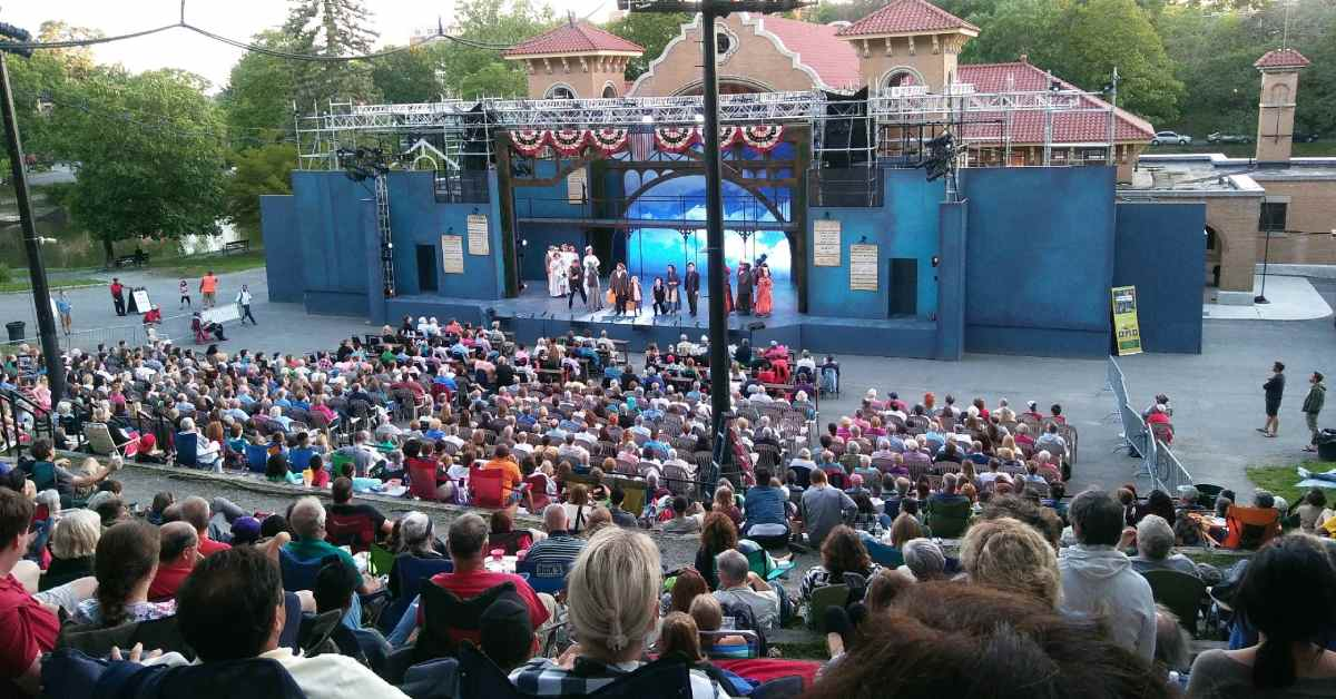 audience watching a performance at park playhouse