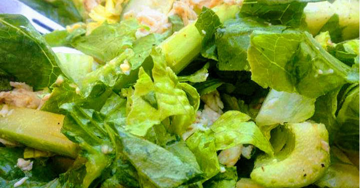 close up of a salad