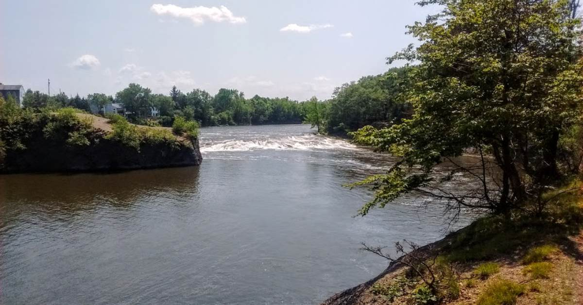 rapids from the point of view of peebles island